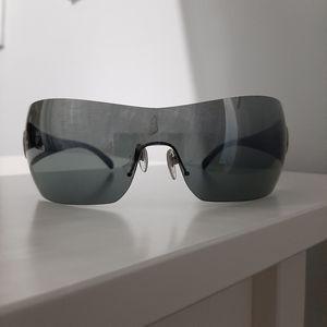 Bulgari Reflective Wraparound Sunglasses